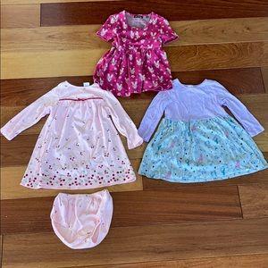 3 knit dresses bundle